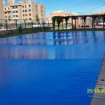 Cobertor de protección para piscinas de comunidad de vecinos - Iber Coberpool