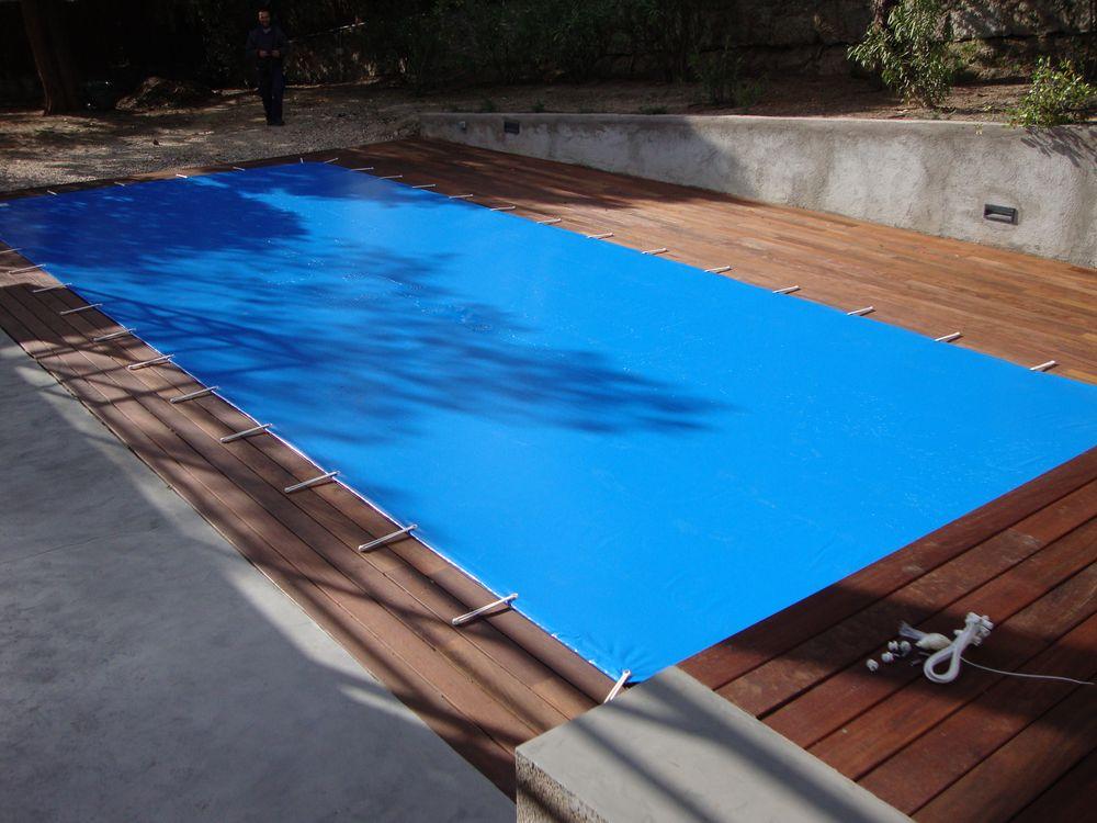 Piscinas de madera o en tarima iber coverpool for Madera para piscinas