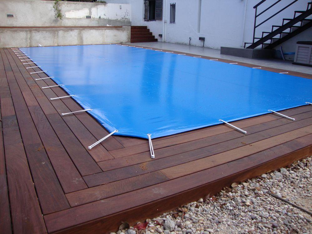 Piscinas de madera o en tarima iber coverpool - Madera para piscinas ...